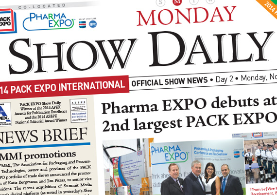 Responsible for all layout from prepress to publication of <i>Show Daily</i>, the official news source for PACK EXPO trade shows. In November 2014, PACK EXPO International hosted nearly 30,000 attendees.